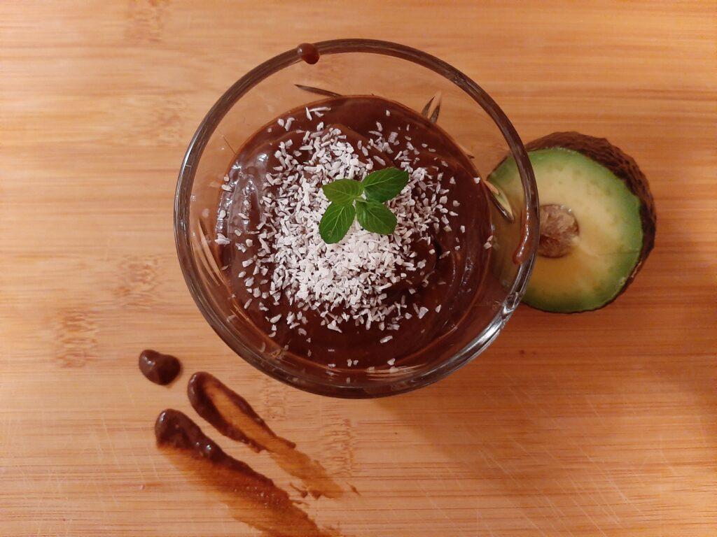 Recept voor ABC-tje: Avocado Banaan Chocolade Pudding met Pepermunt